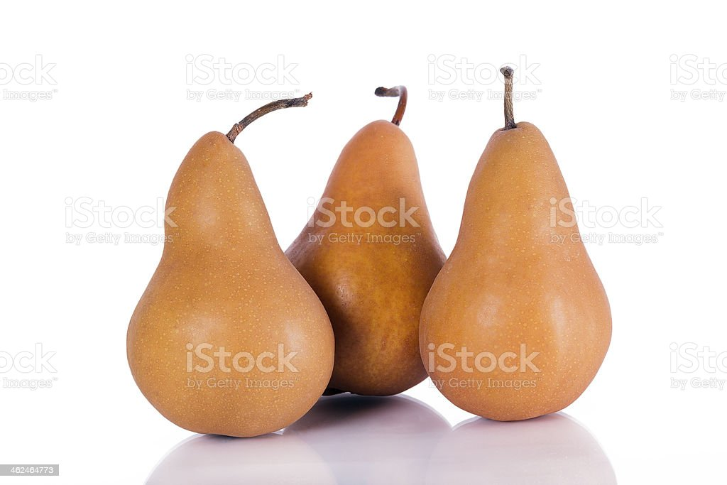 Brown pear stock photo