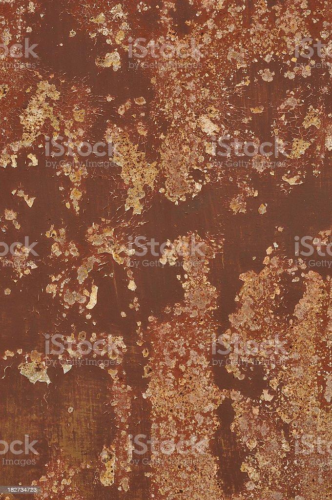 Brown Peeling Paint Texture royalty-free stock photo