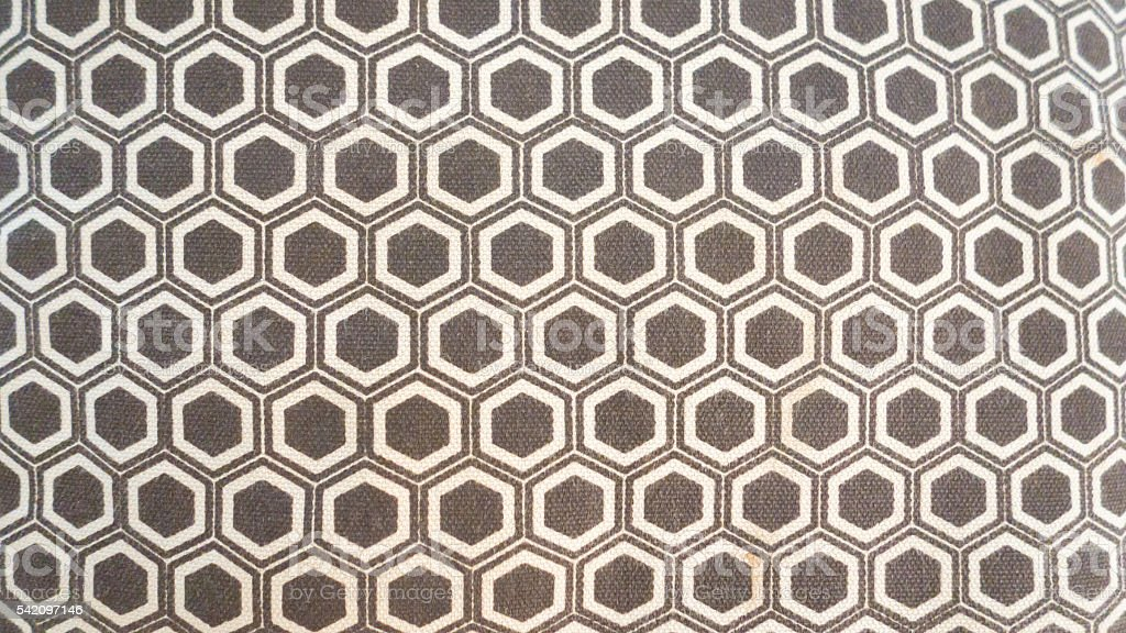 brown pentagon fabric texture abstract background stock photo