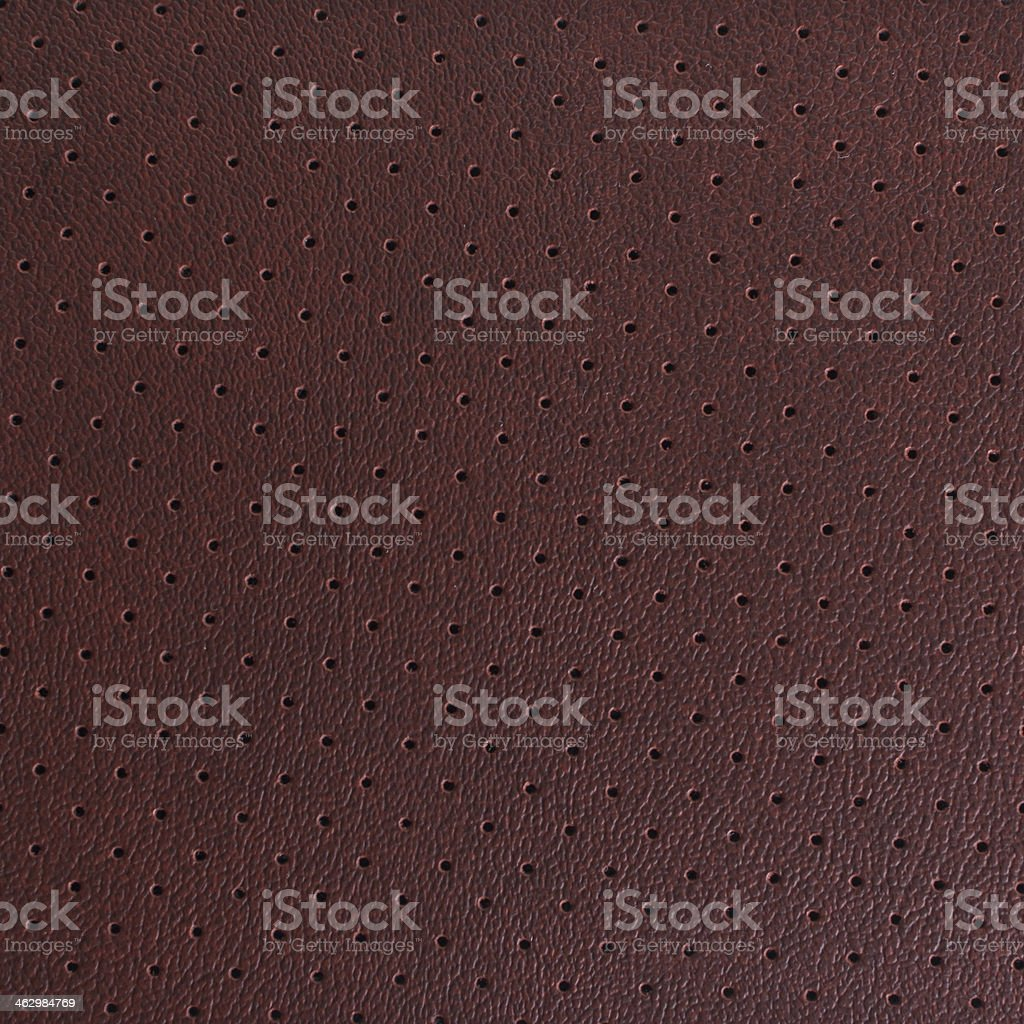 brown perforated leather stock photo