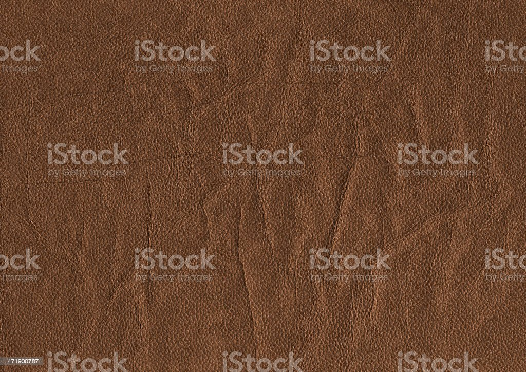 Brown Pig Napa Leather Crumpled Wizened Grunge Texture Sample royalty-free stock photo