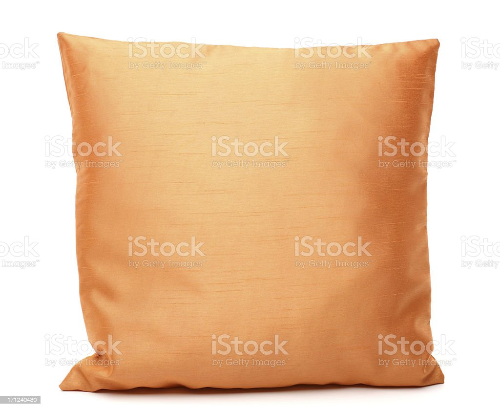 brown pillow stock photo