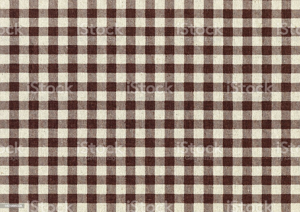 Brown Plaid Fabric background textured royalty-free stock photo