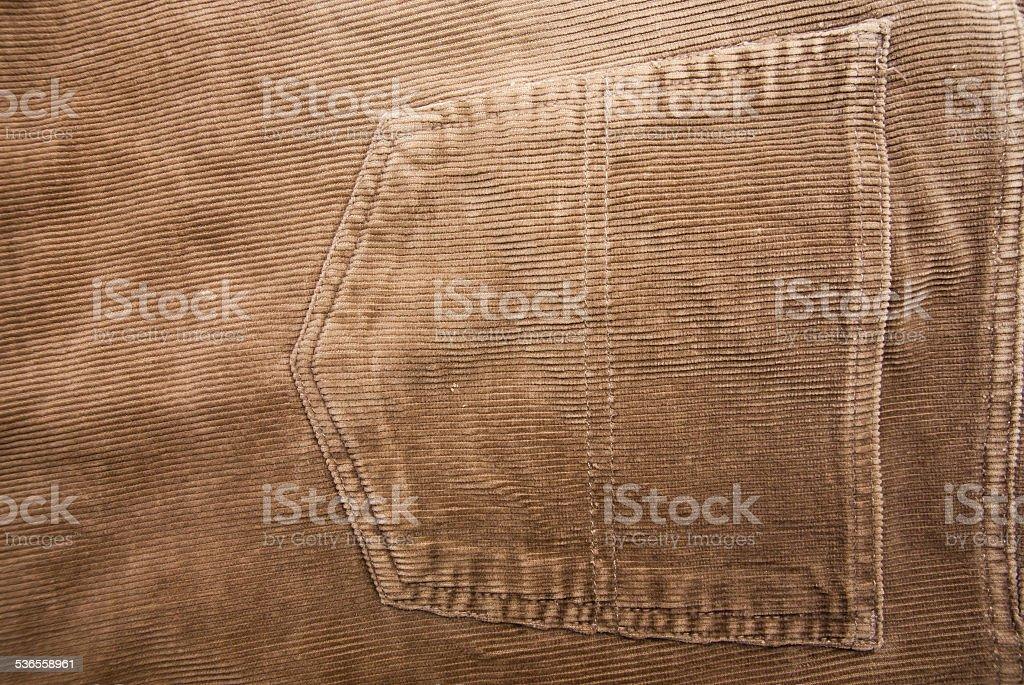 Brown pocket stock photo