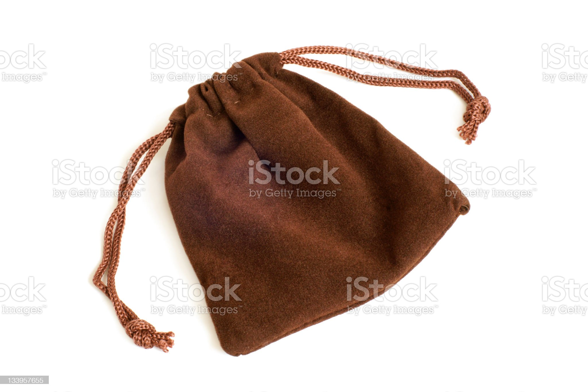 Brown pouch royalty-free stock photo