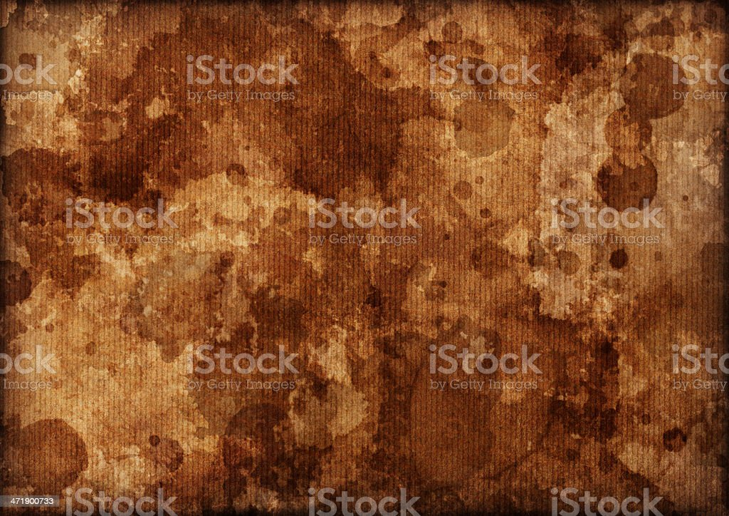 Brown Recycled Striped Kraft Paper Mottled Vignette Grunge Texture royalty-free stock photo
