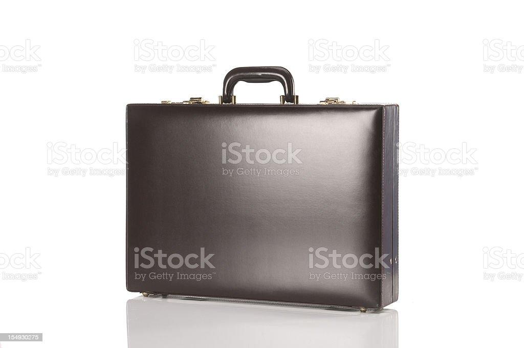 Brown Retro Briefcase stock photo