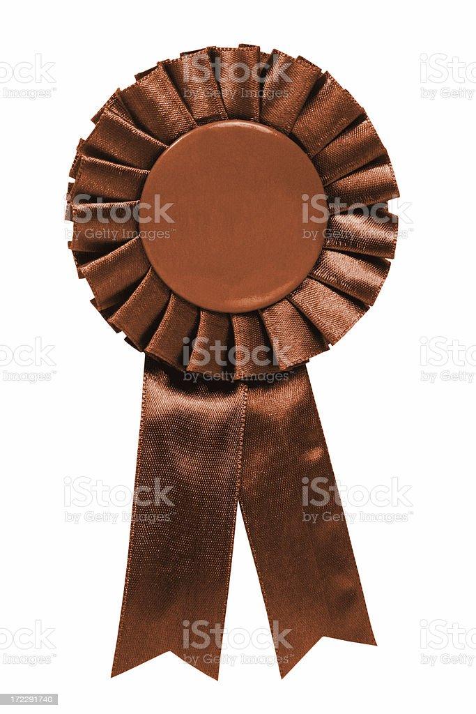 Brown ribbon stock photo