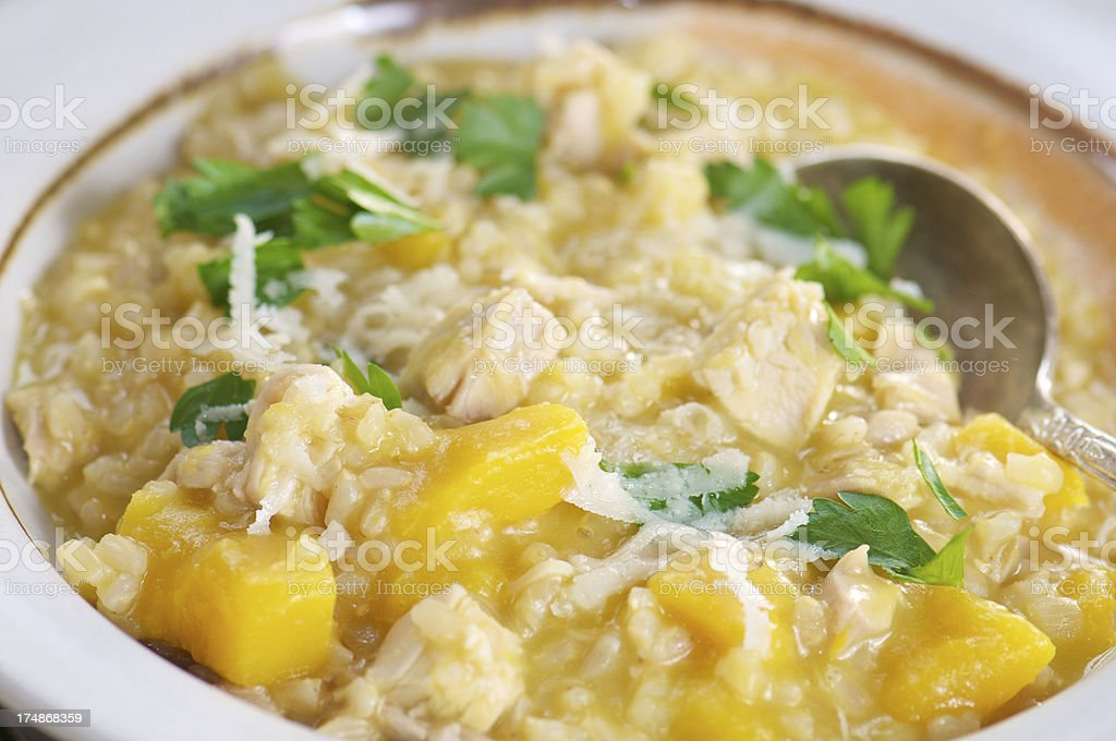Brown Rice and Winter Squash Risotto royalty-free stock photo