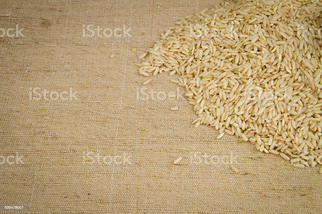 Brown rice closed up royalty-free stock photo