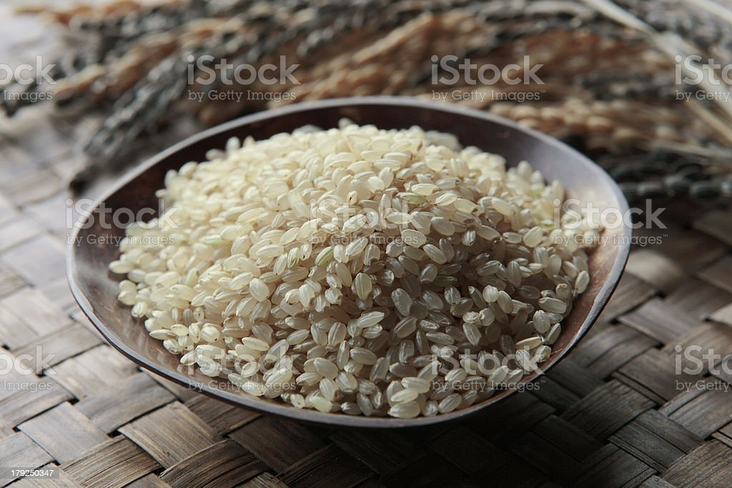Brown rice royalty-free stock photo