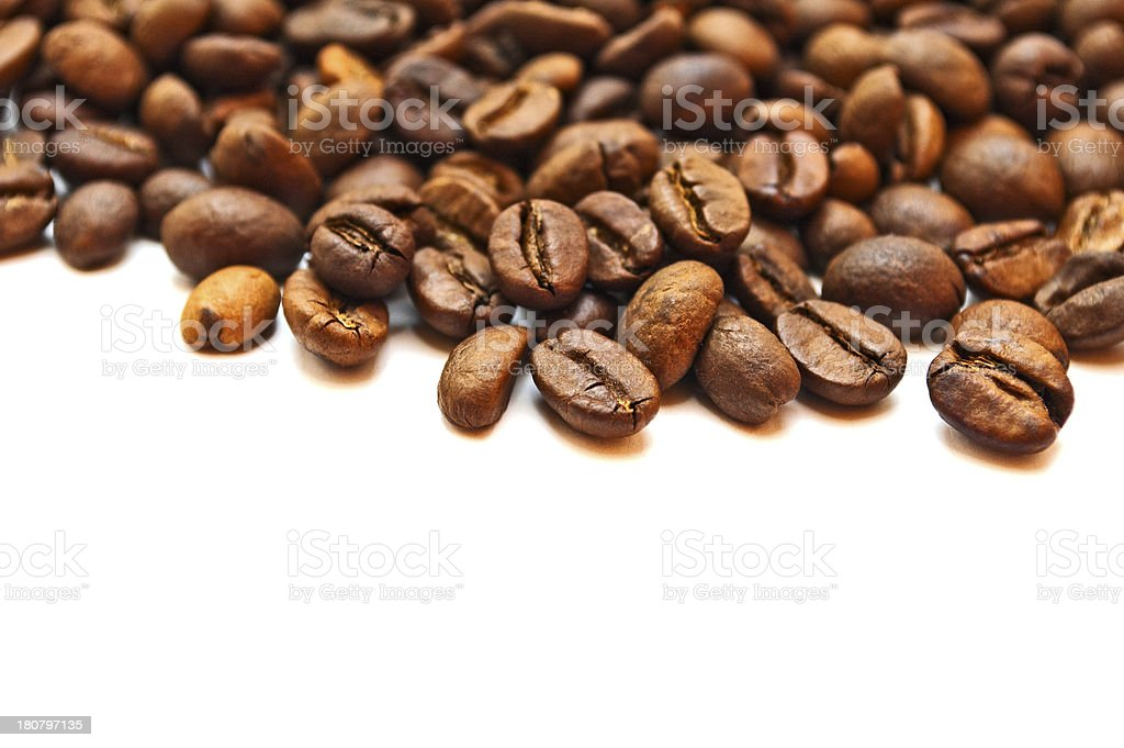 Brown roasted coffee beans royalty-free stock photo