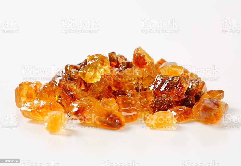 Brown rock sugar stock photo