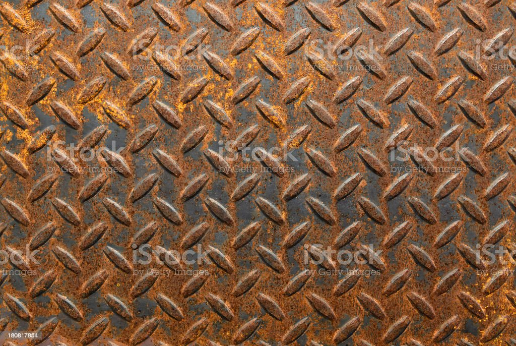 A brown rustic metallic background stock photo