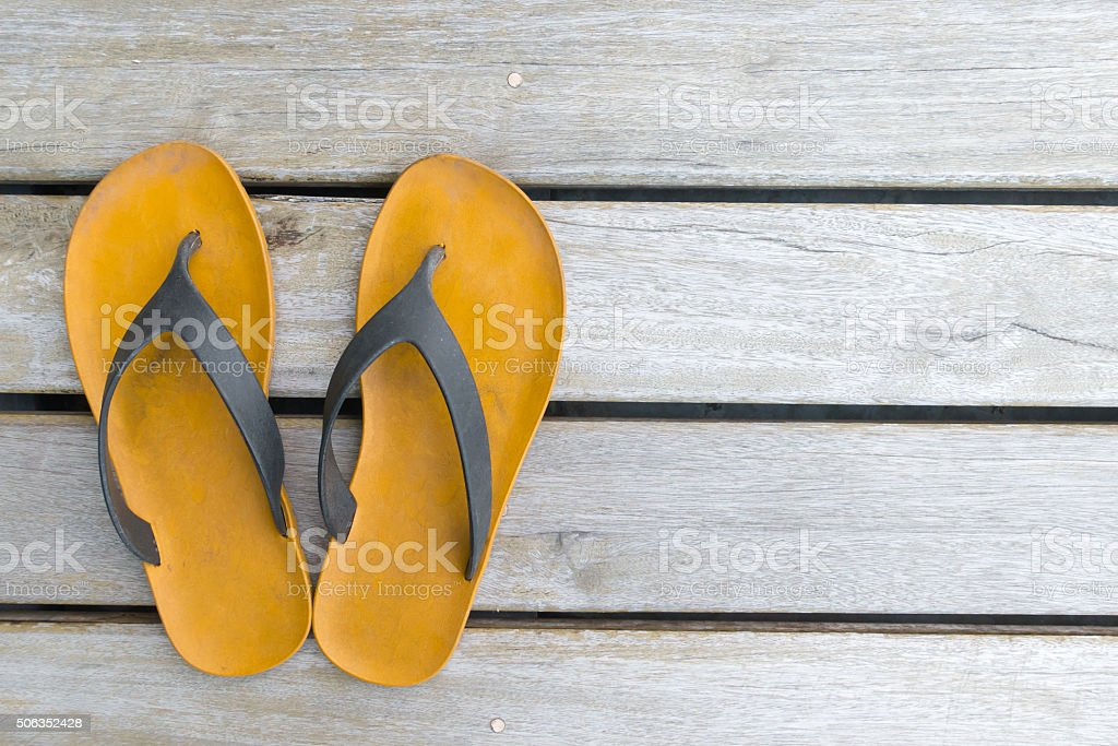brown sandals stock photo