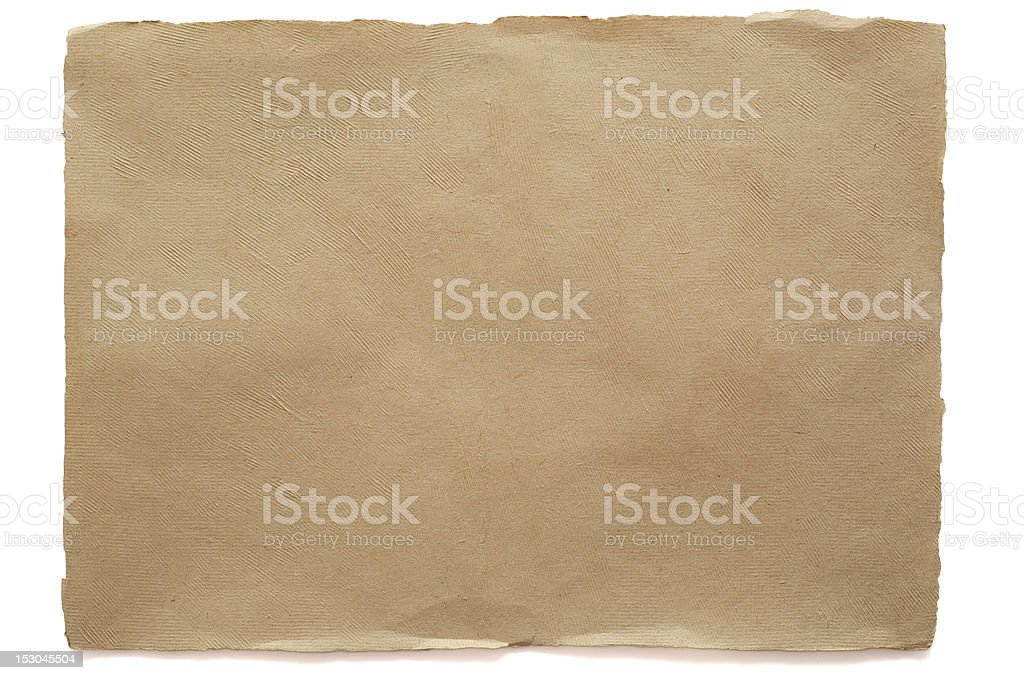 Brown sheet watercolour paper isolated stock photo