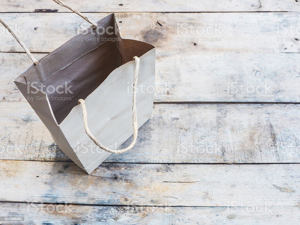 brown shopping bag stock photo
