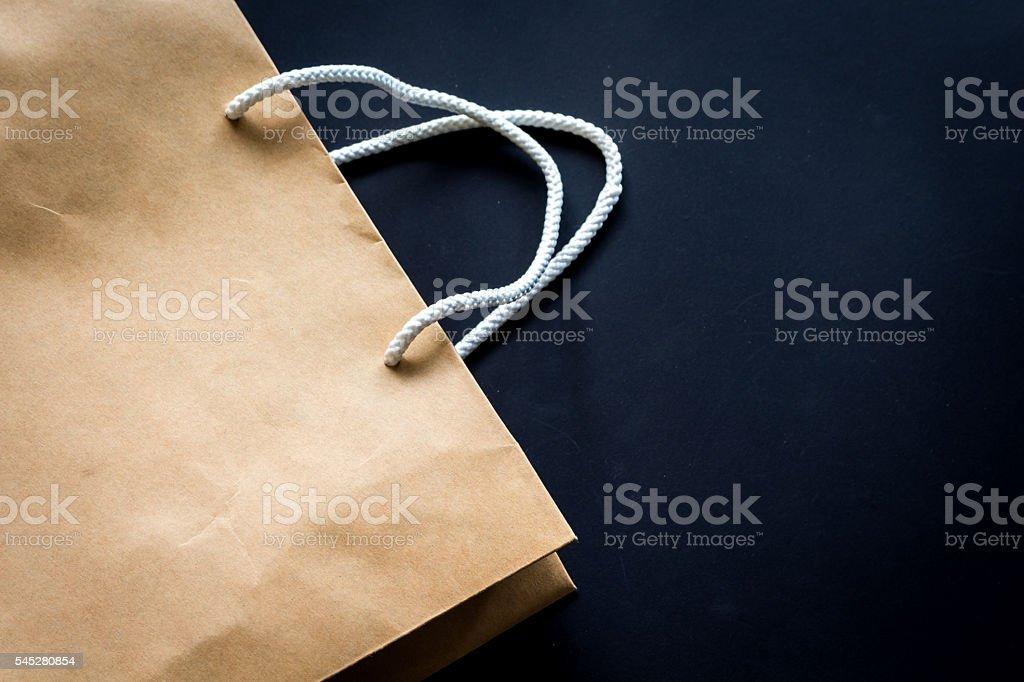 Brown Shopping Bag stock photo