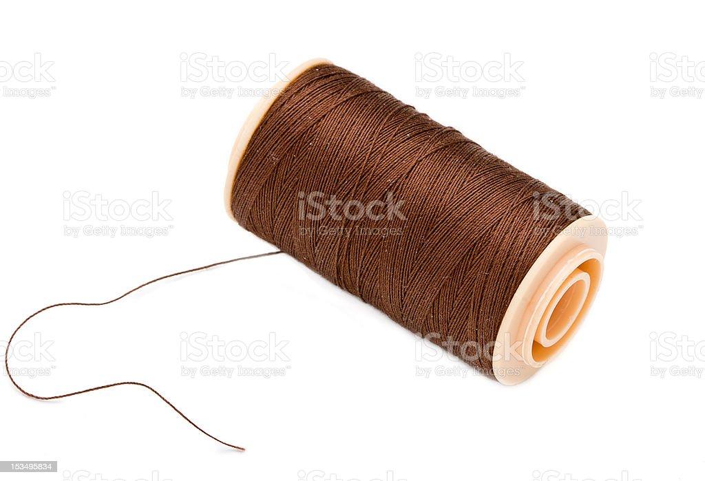 Brown Silk Cotton Thread . royalty-free stock photo