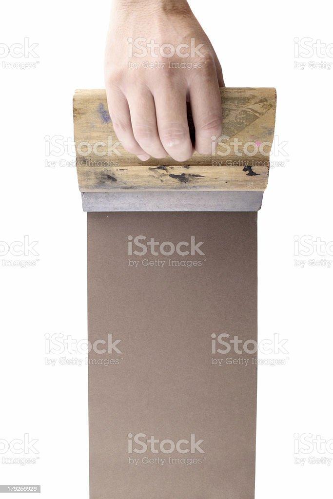 Brown silkscreen royalty-free stock photo