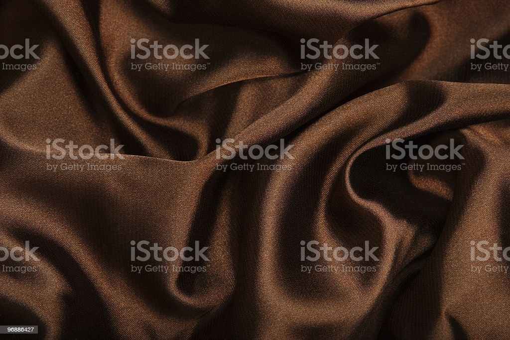 Brown smooth textile stock photo