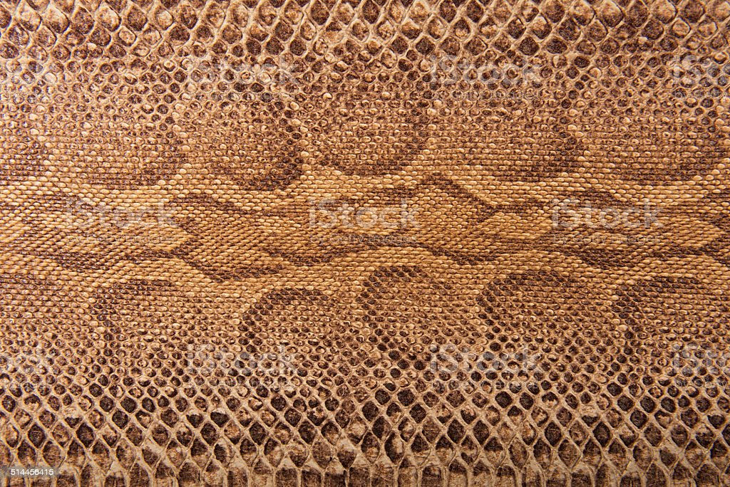 Brown snake pattern imitation, background stock photo