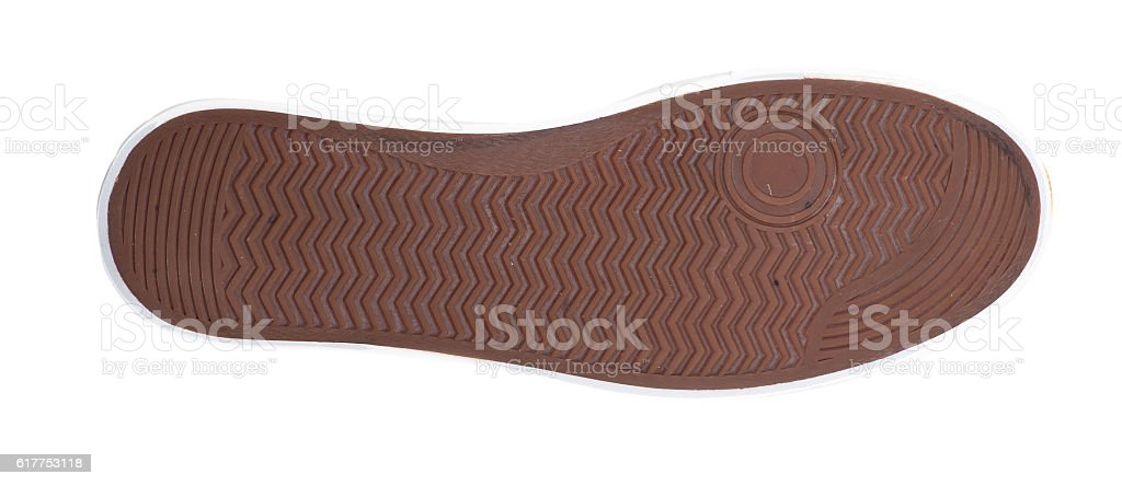 Brown sole with some spots stock photo