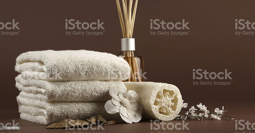 brown spa scene background royalty-free stock photo