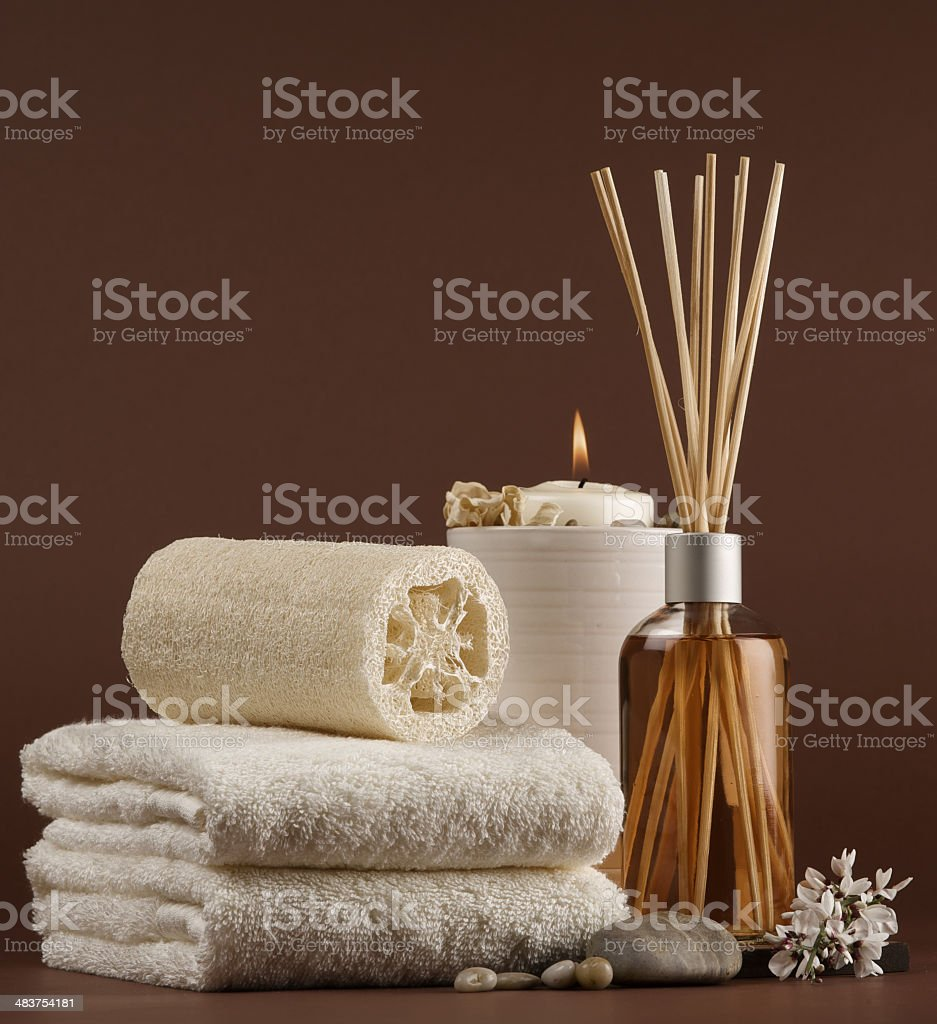 brown spa scent royalty-free stock photo
