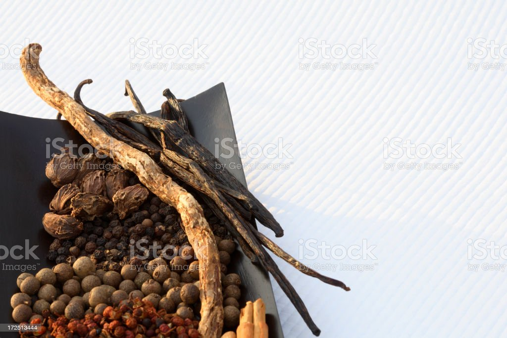 Brown spices. royalty-free stock photo