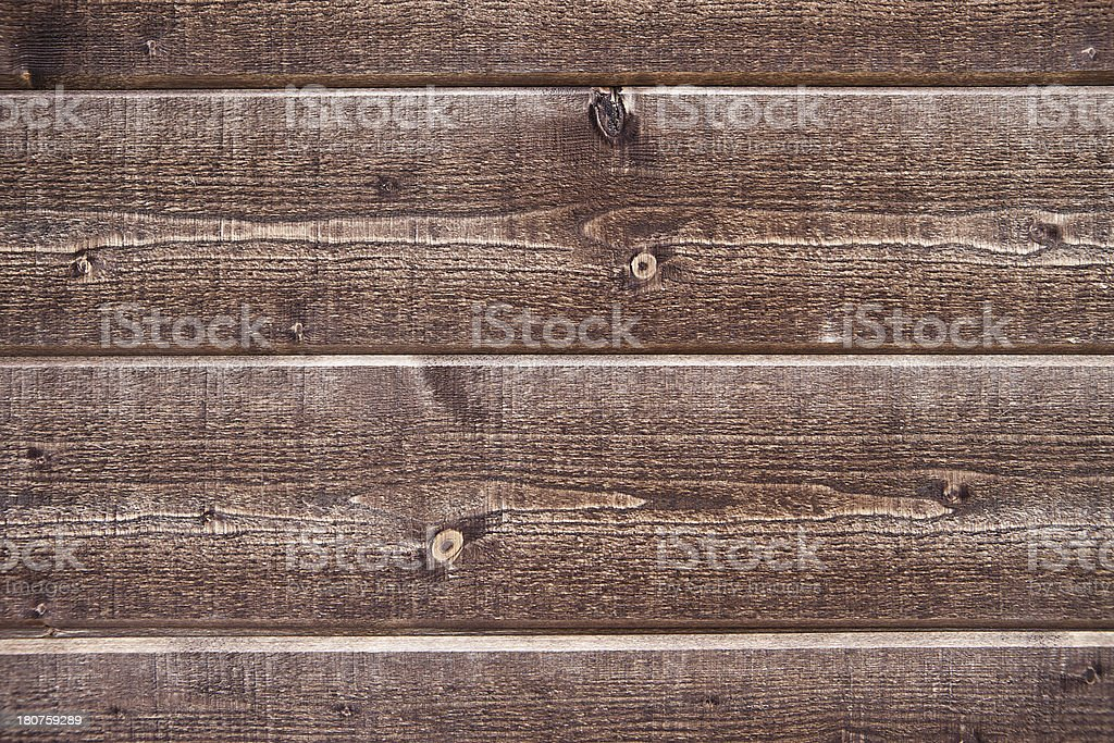 Brown stained planks of wooden wall royalty-free stock photo