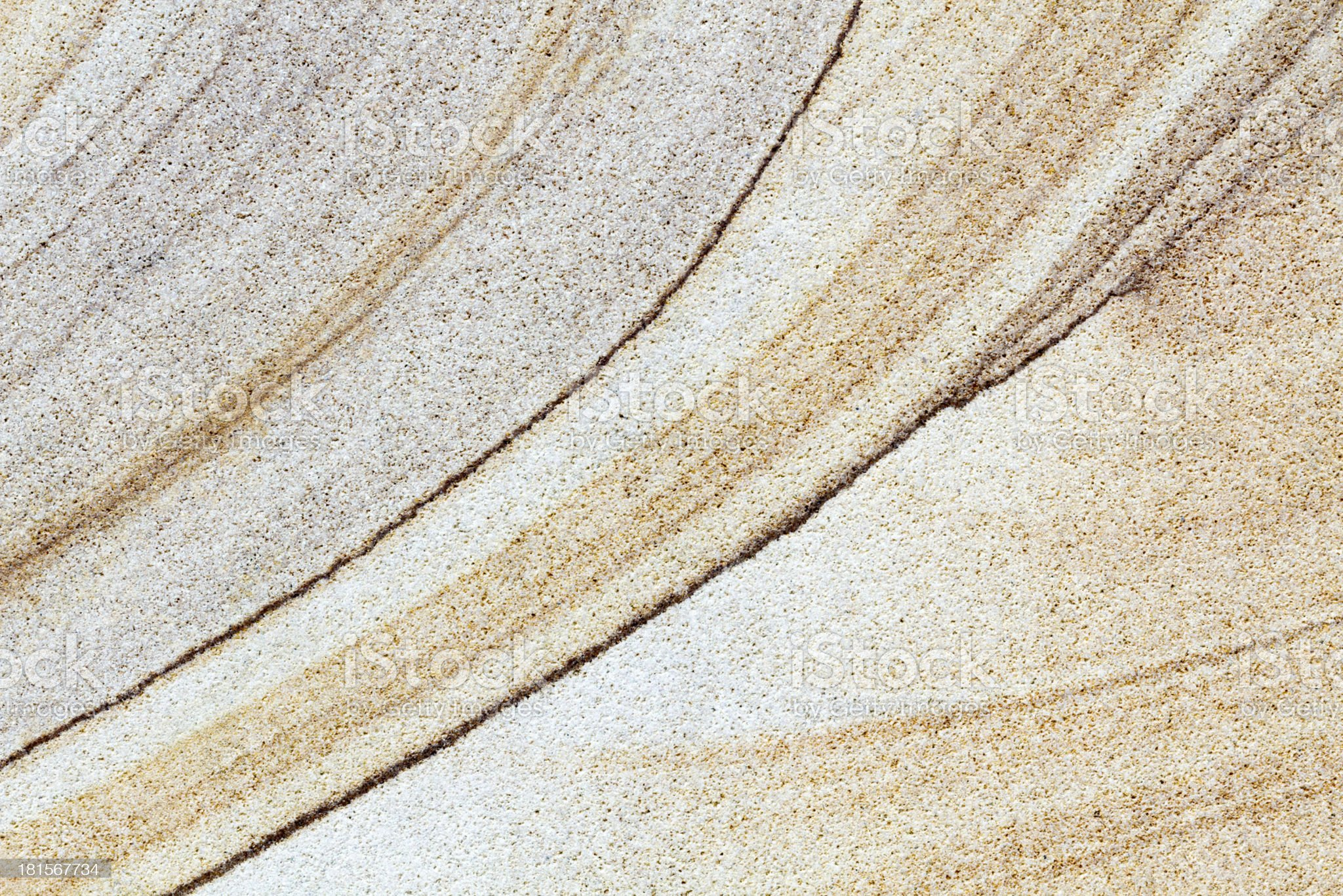 Brown stone with different line structures flat surface royalty-free stock photo