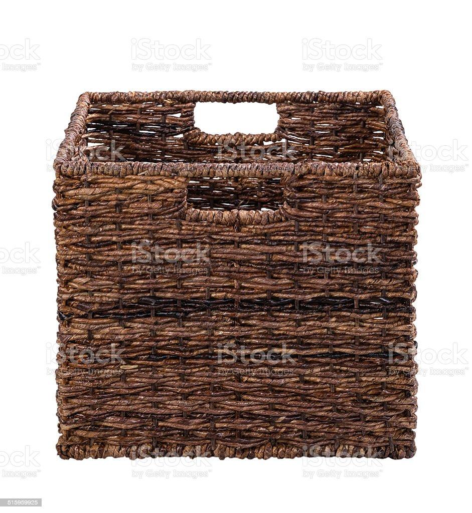 Brown storage basket stock photo