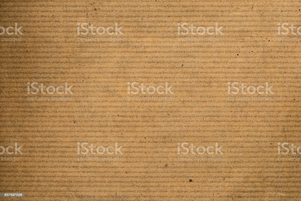 Brown striped recycle paper texture for wrapping stock photo