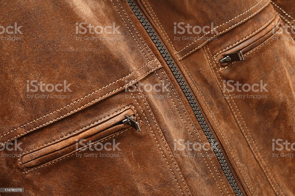 Brown suede jacket royalty-free stock photo