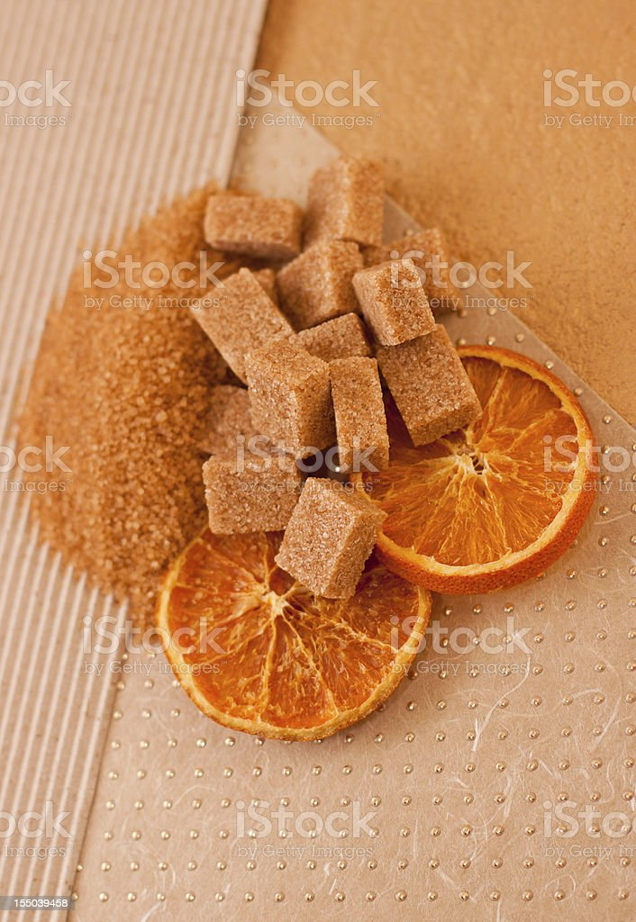 Brown Sugar and Candied Orange royalty-free stock photo