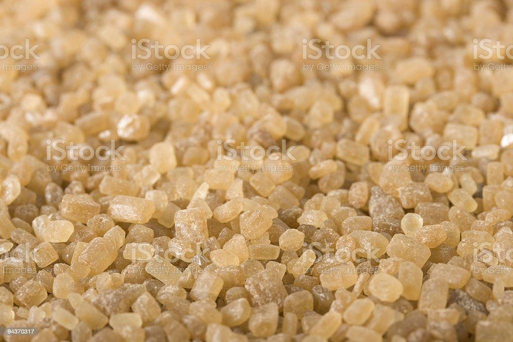 Brown sugar macro royalty-free stock photo