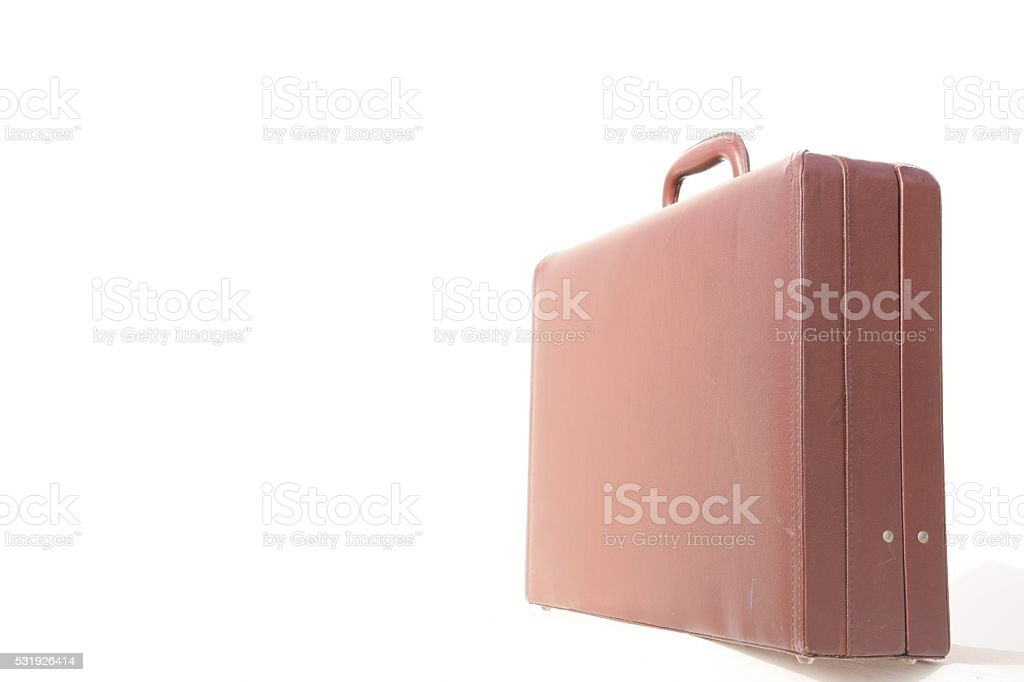Brown suitcase stock photo