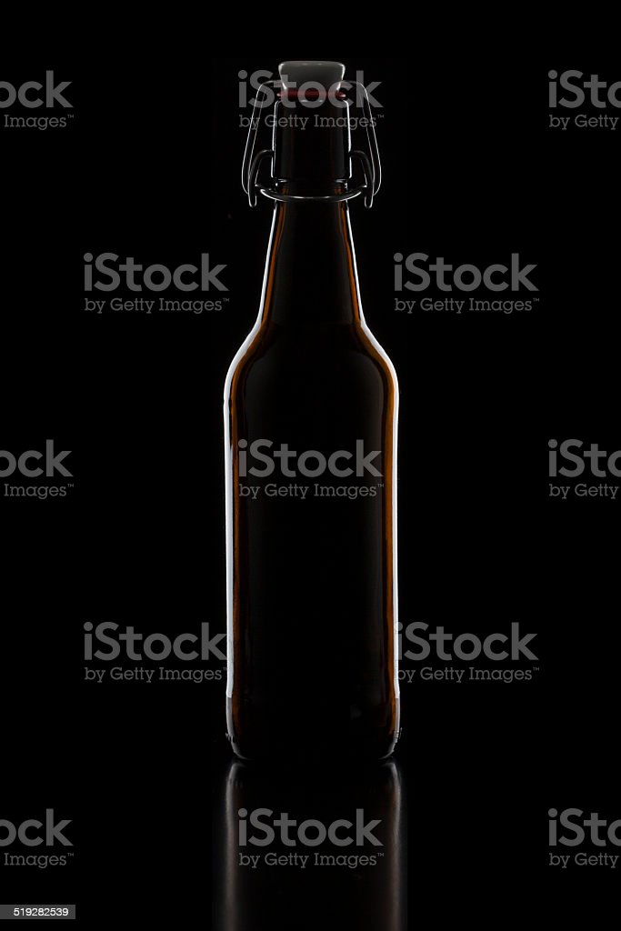 Brown swing top bottle stock photo