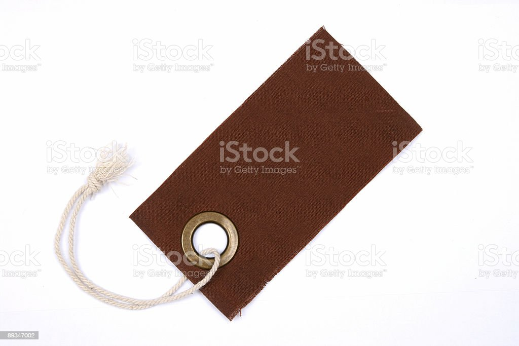 Brown tag isolated. royalty-free stock photo