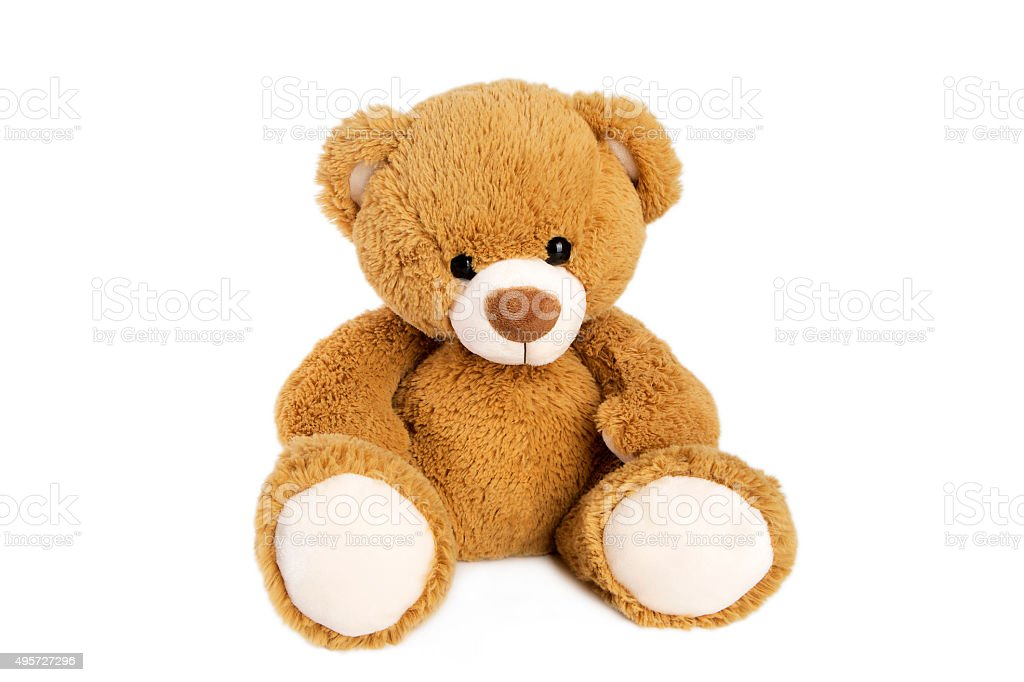 Brown teddy bear stock photo