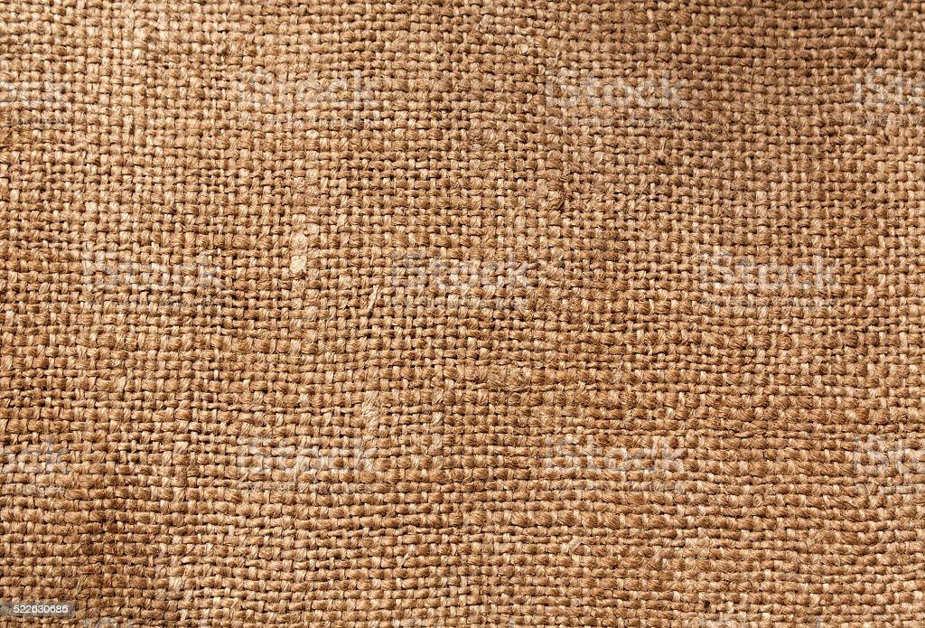 Brown textile sack texture stock photo
