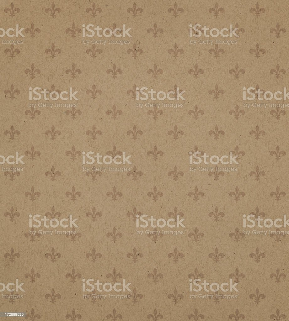 High resolution brown textured paper with symbol stock photo