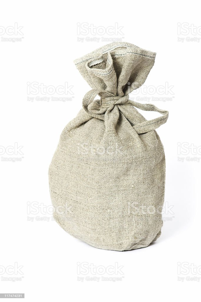 Brown textured sack. royalty-free stock photo