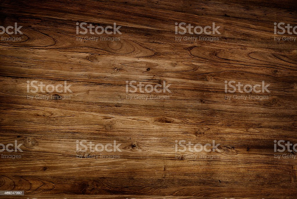 Brown Textured Varnished Wooden Floor stock photo
