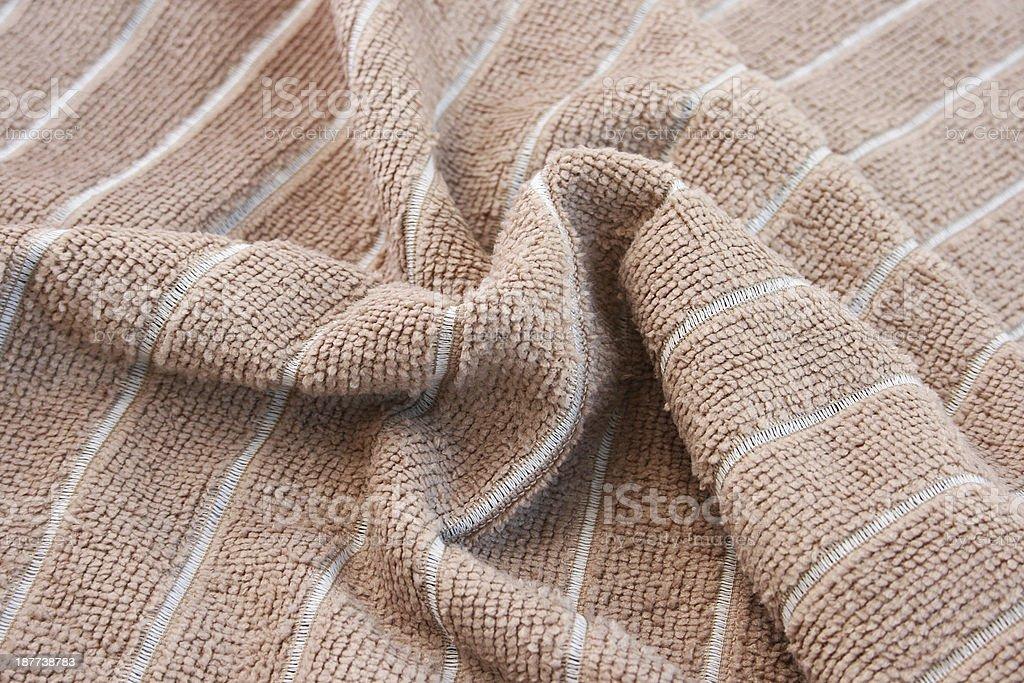 Brown towel royalty-free stock photo