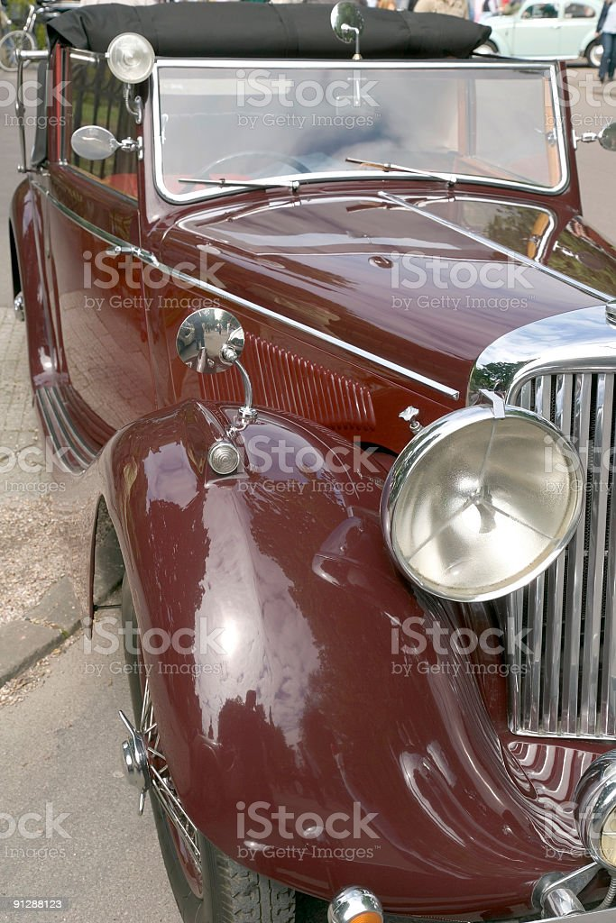 Brown vintage cabriolet royalty-free stock photo