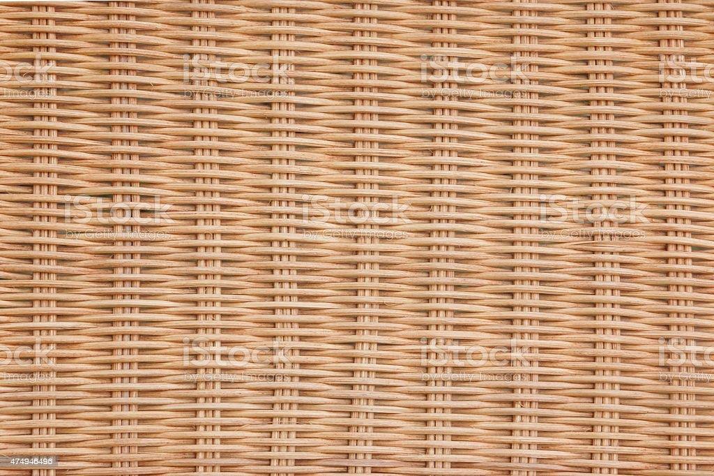 Brown Wicker Rattan Texture Background stock photo