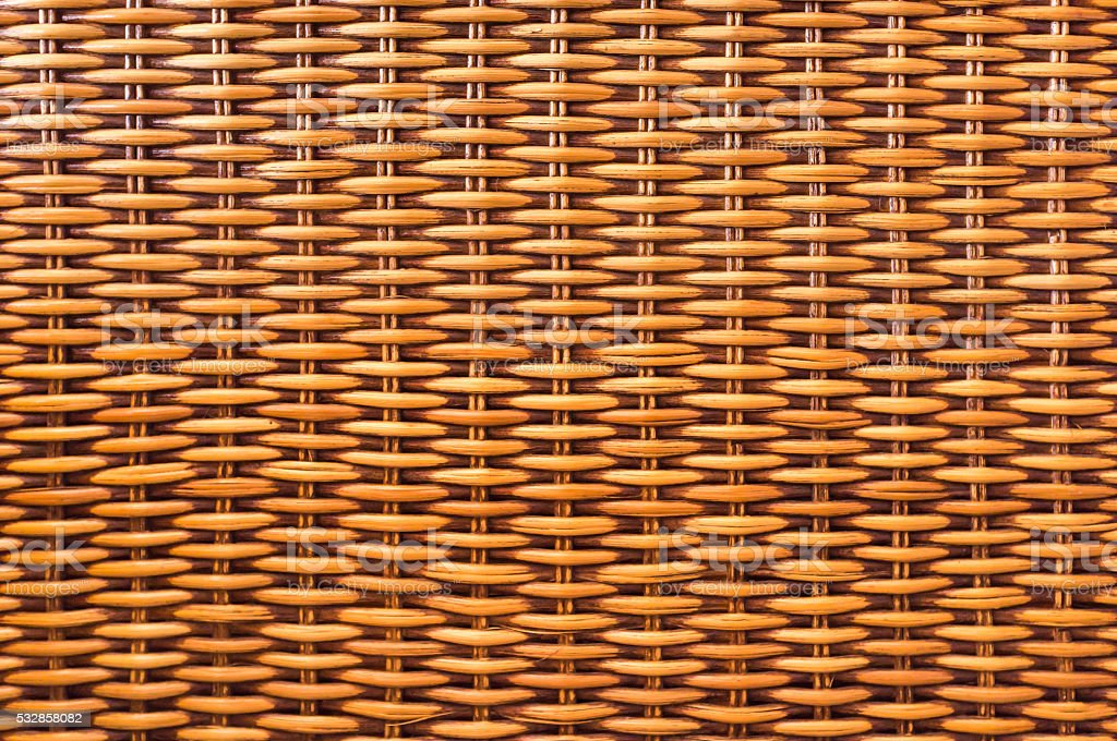 Brown wicker wood  texture background stock photo