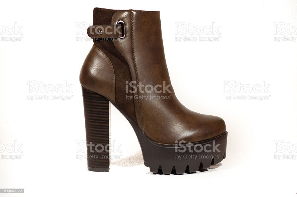 brown woman boot stock photo